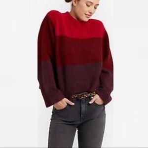 Rebecca Minkoff Miller Love Sweater Oversized Red